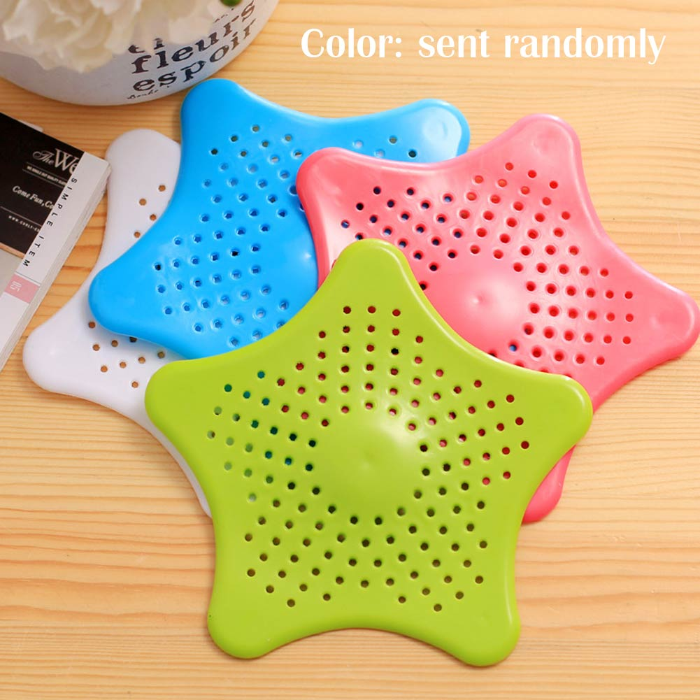 Star Drain Hair Stopper Cover Filter Silicone SinkStrainer for Bath Kitchen