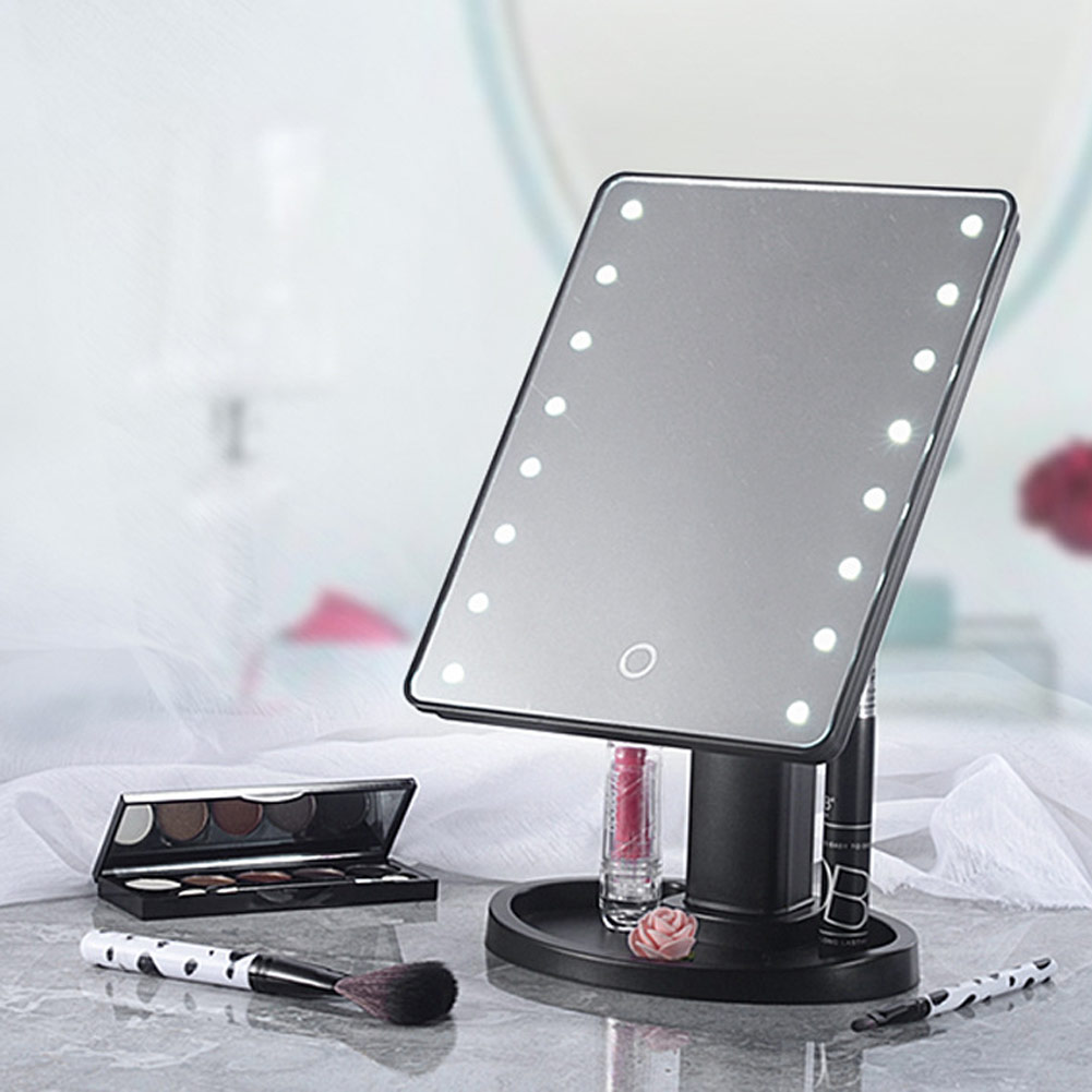 16 led beleuchtete touchscreen make up kosmetik tisch schminkspiegel ebay. Black Bedroom Furniture Sets. Home Design Ideas