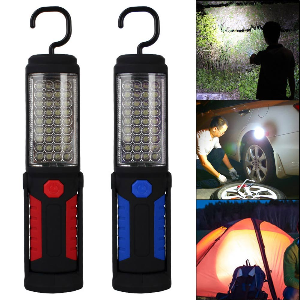 Portable 36+5Led Work Light Camping Emergency Lamp Flashlight W/Magnetic