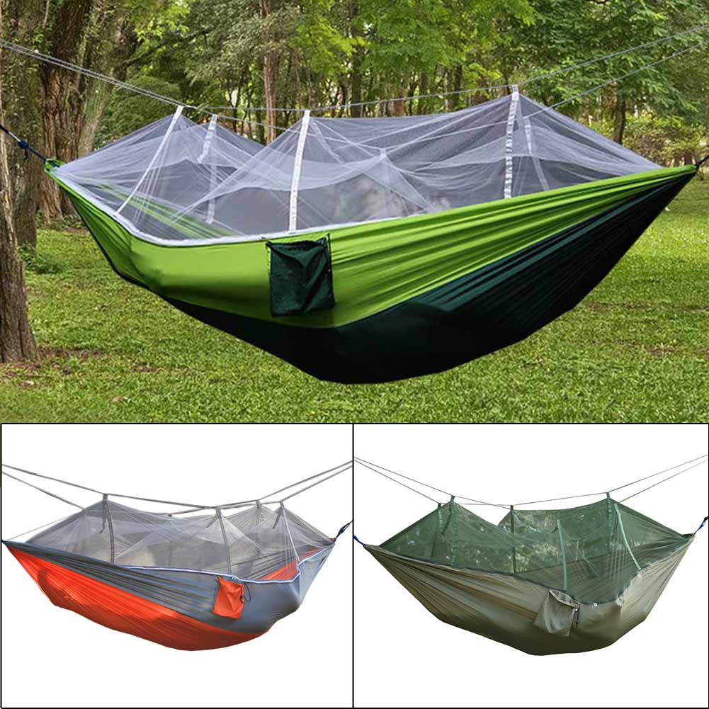 Multifunction Portable Double Person Camping Hiking Mosquito Net Hammock