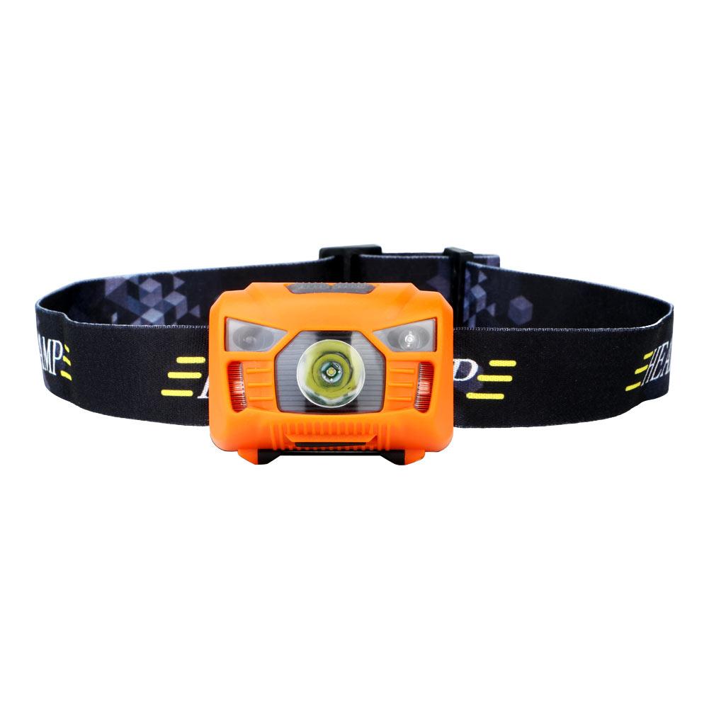 Wholesale 3000LM LED PIR Sensor USB Rechargeable Camping Headlamp Headlight Orange
