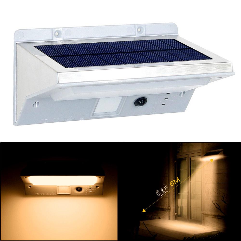 21LED 3Mode Solar SensorPIR MotionActivatedGarden LightWall Lamp WarmWhite