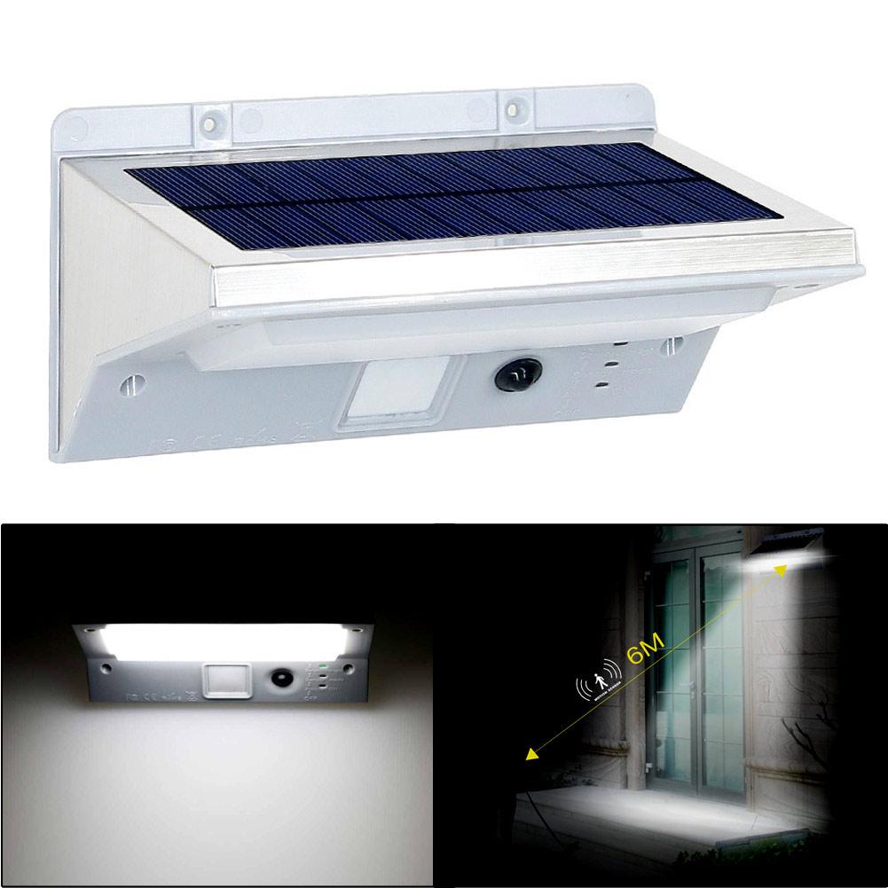 Wholesale 21LED 3Mode Solar Sensor PIR Motion Activated Garden Light Wall Lamp White