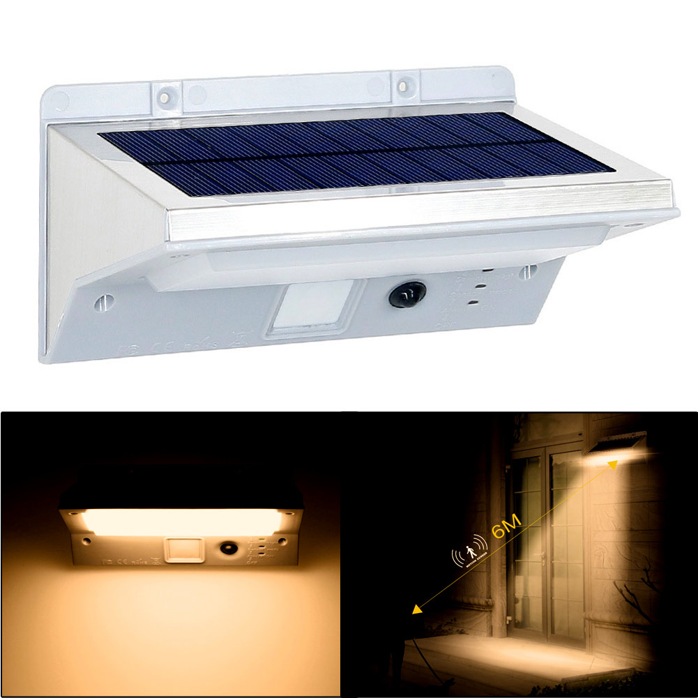 Waterproof 21LED 3Mode Solar SensorPIR MotionActivatedGarden LightWall Lamp