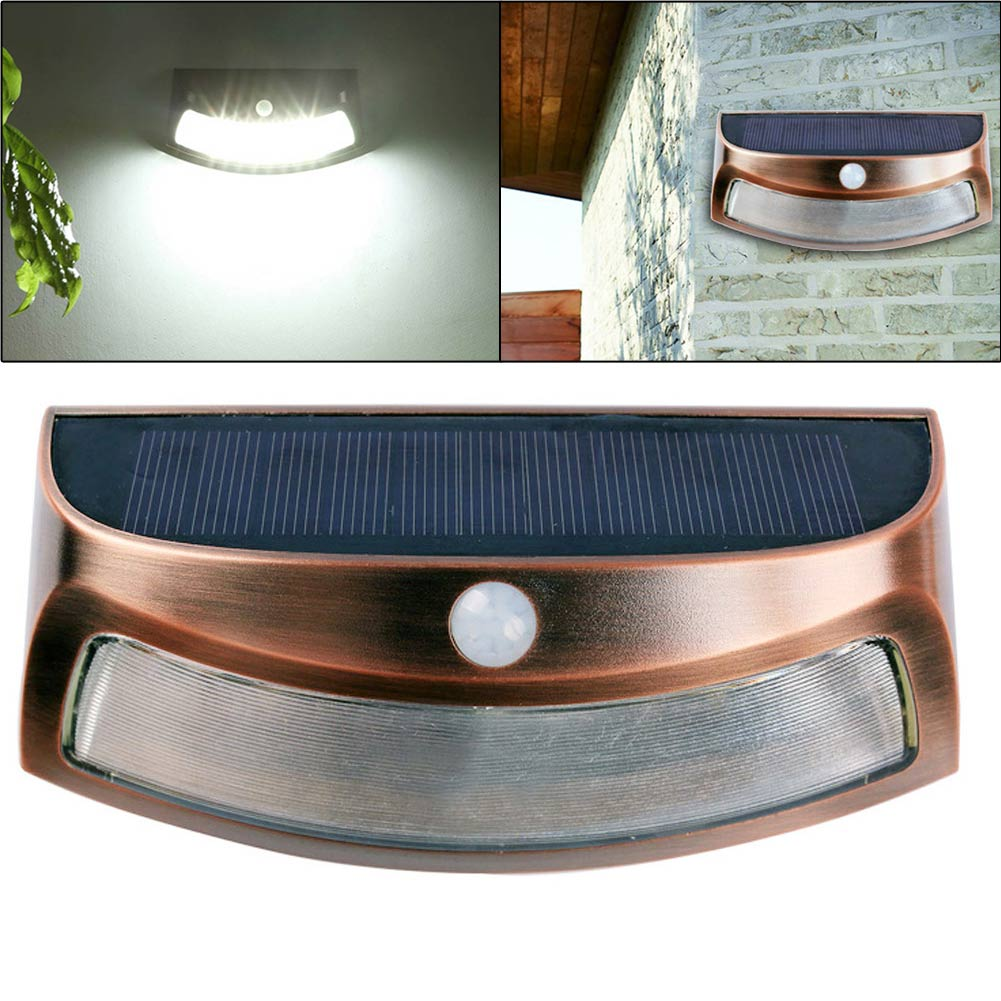 Lighting Basement Washroom Stairs: LED Solar Step Light PIR Motion Sensor Wall Light Outdoor