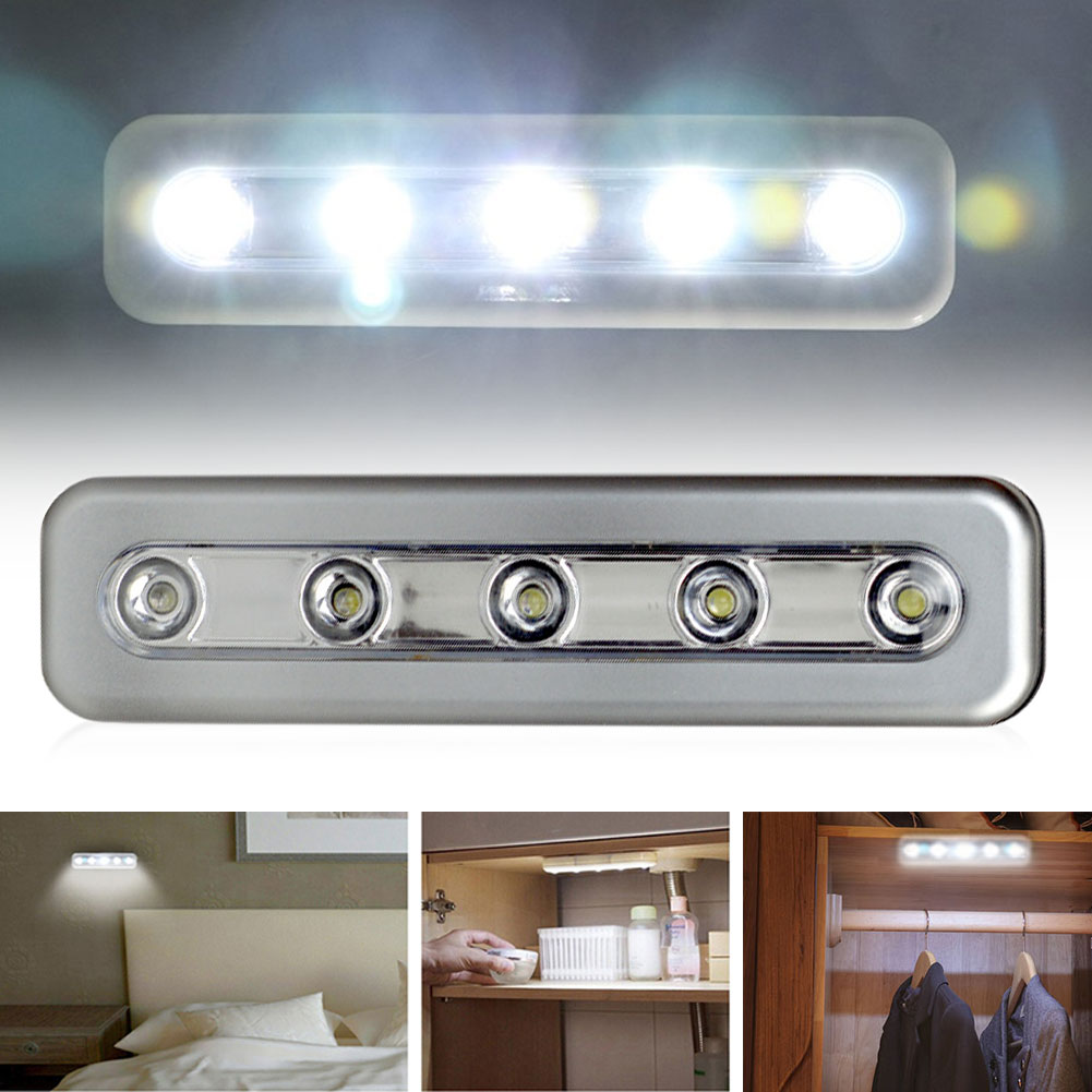 5LED Touch Night Light Home Kitchen Under Cabinet Closet