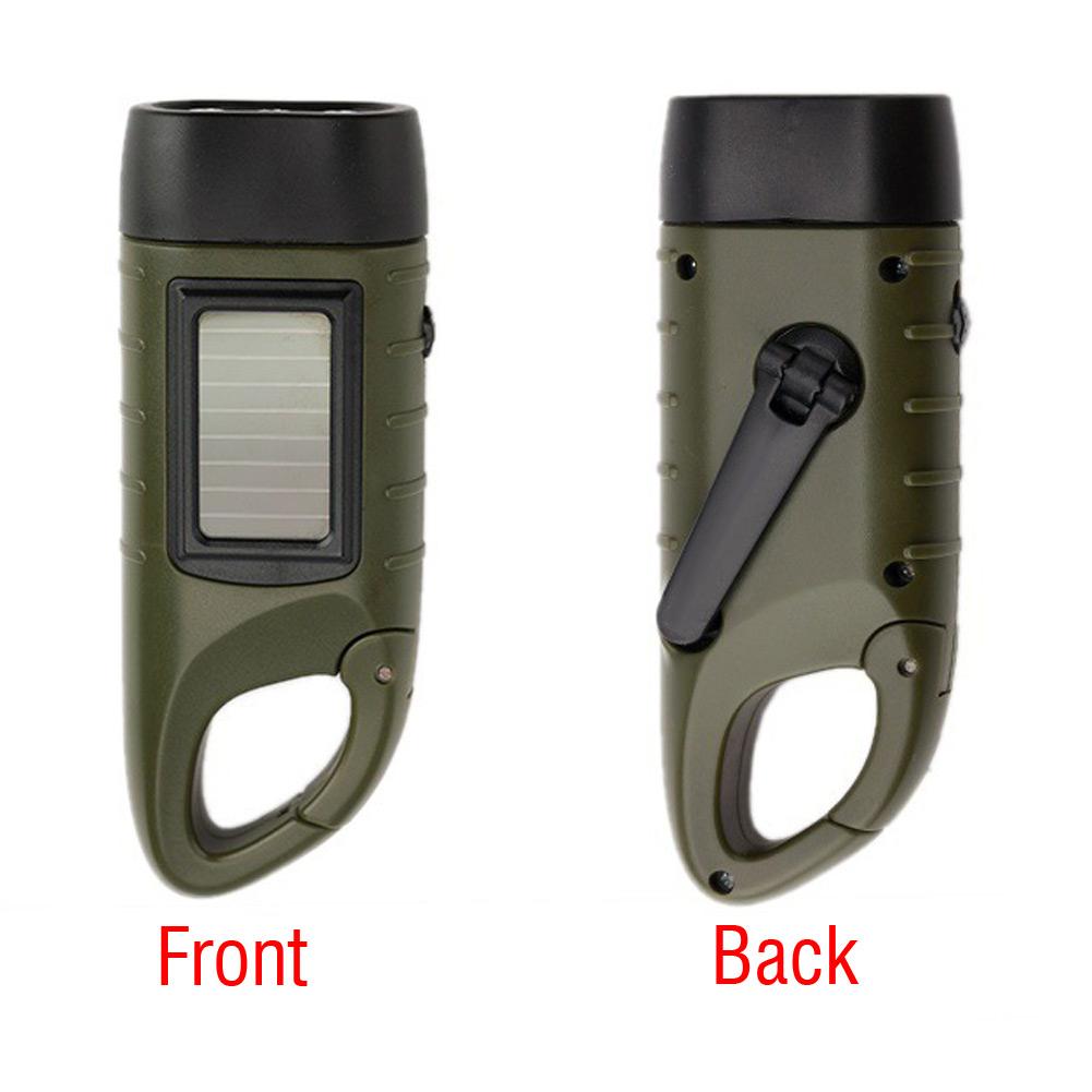 Solar-betriebene-Handkurbel-Taschenlampe-wiederaufladbare-3LED-mit-Clip-Notlicht Indexbild 4