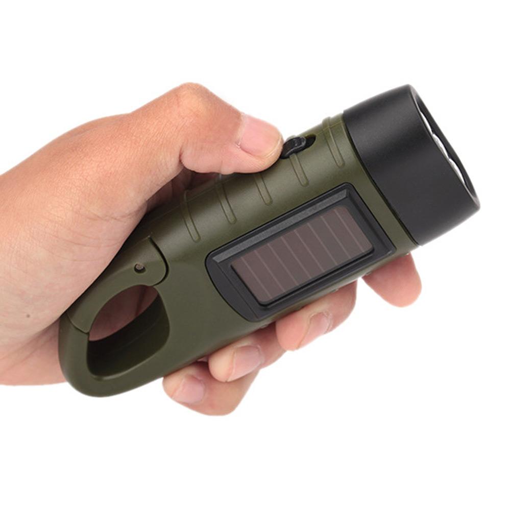 Solar-betriebene-Handkurbel-Taschenlampe-wiederaufladbare-3LED-mit-Clip-Notlicht Indexbild 6