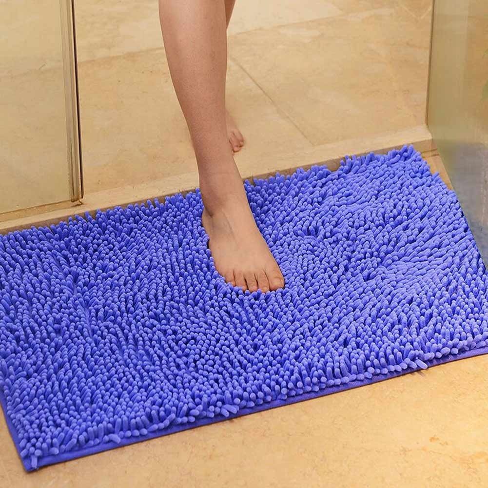 washable soft shaggy non slip absorbent bath mat bathroom shower