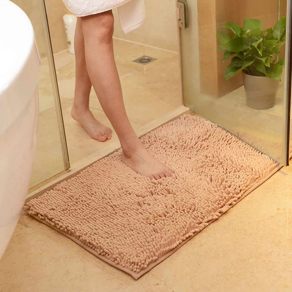 Product Description Microfiber Chenille Soft Absorbent Non Slip Carpet Bath