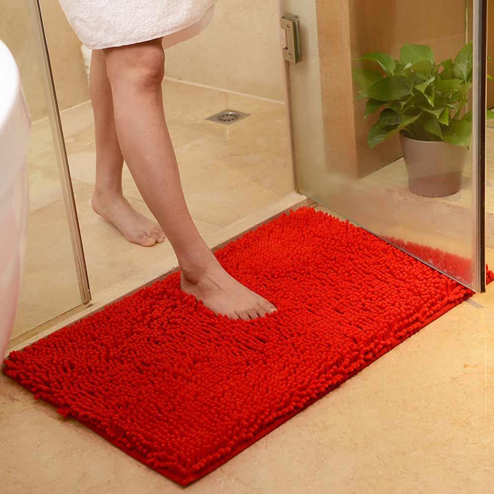 Washable Soft Shaggy Non Slip Absorbent Bath Mat Bathroom
