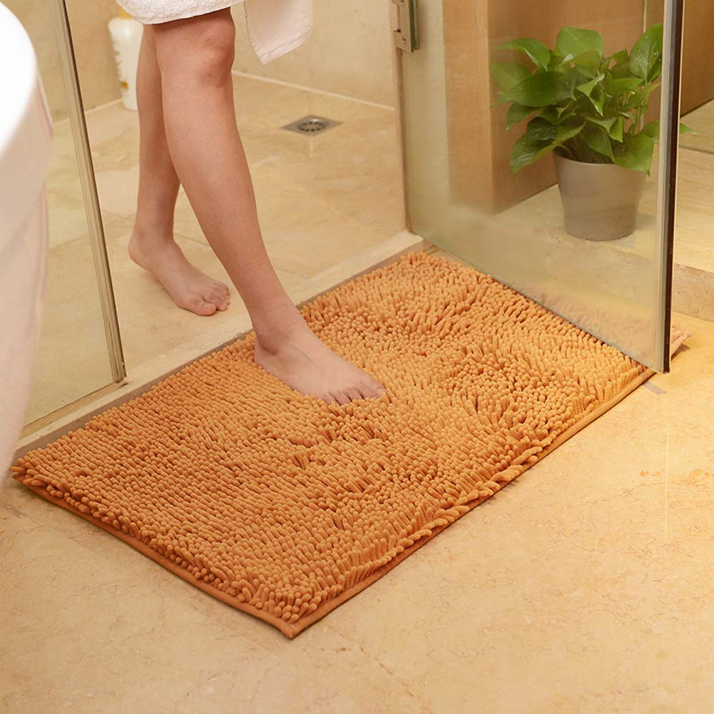 washable soft shaggy non slip absorbent bath mat bathroom shower rugs carpet mat ebay. Black Bedroom Furniture Sets. Home Design Ideas