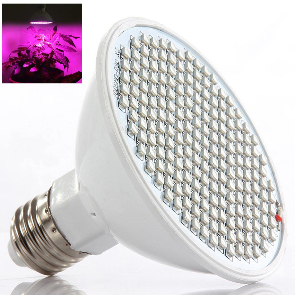 E27 20W 200Led Garden Greenhouse Flower Plant Grow Seeding Light Lamp Bulb