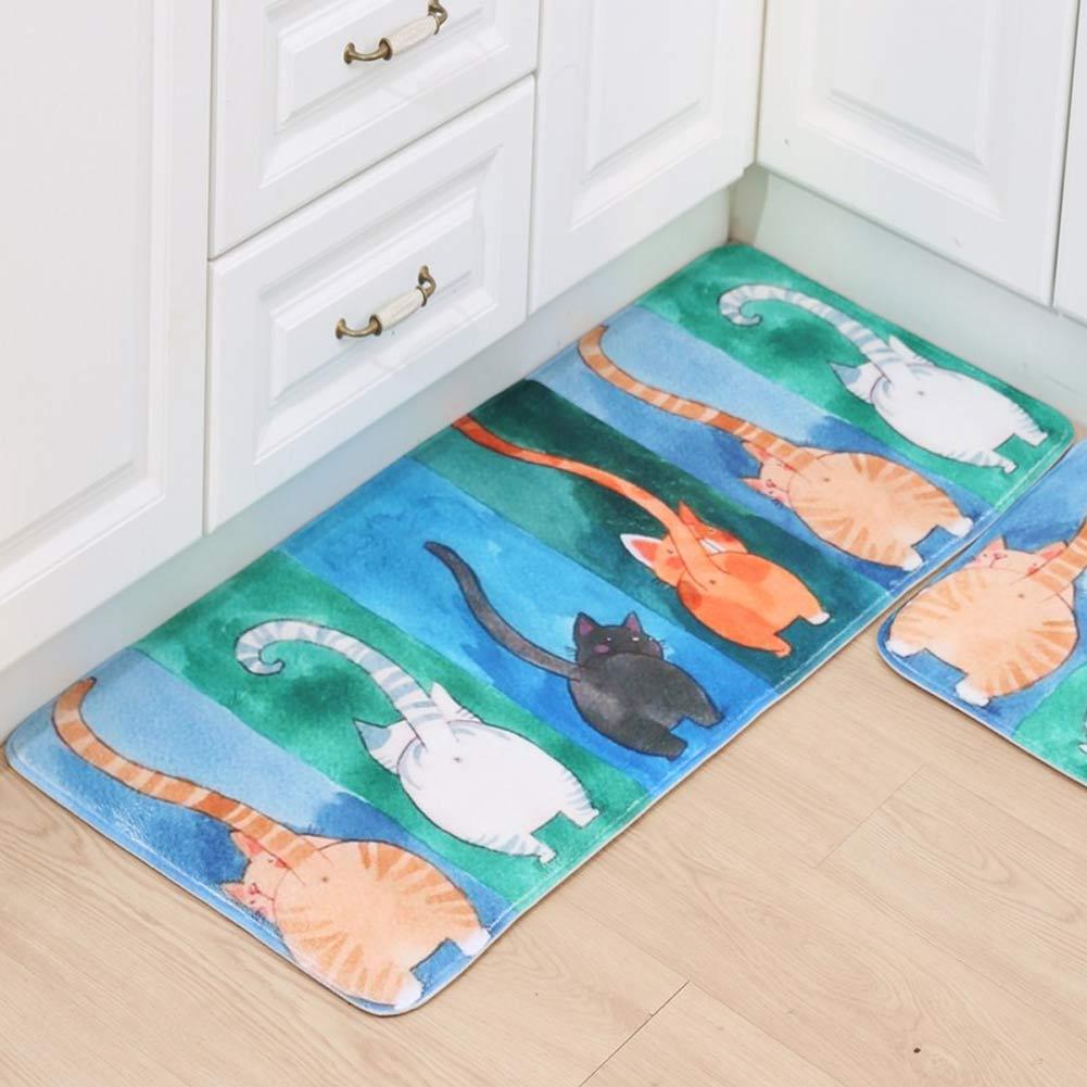 Full Floor Bathroom Rugs : Cute carton cat doormats bathroom bedroom anti slip door