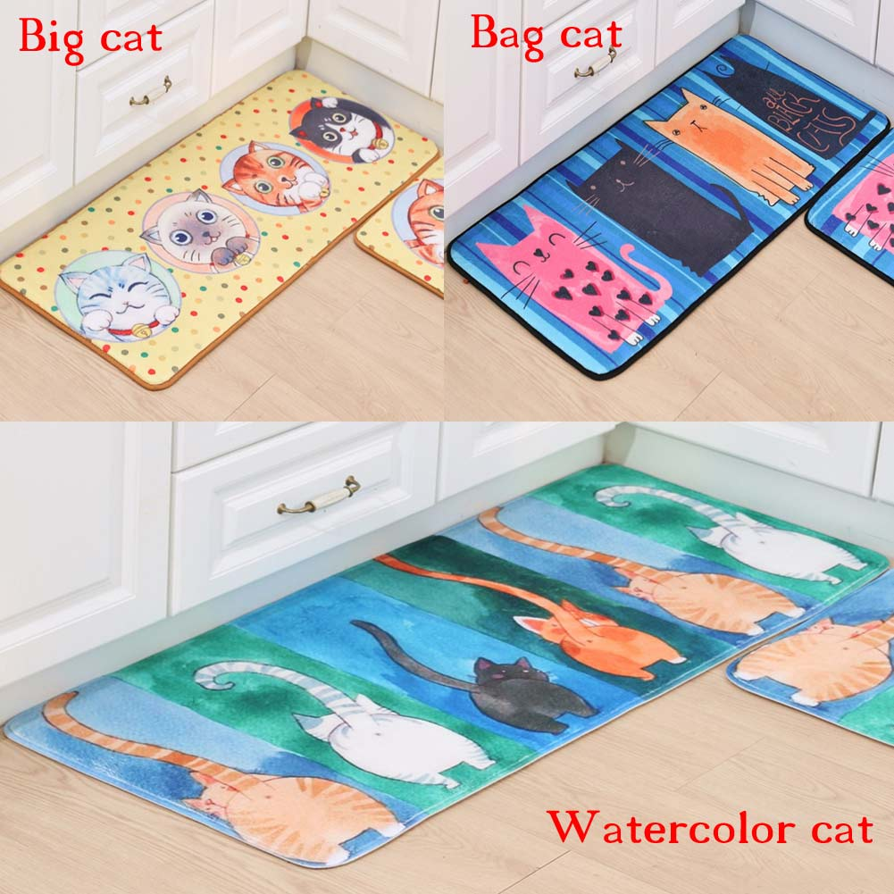 Cute Carton Cat Doormats Bathroom Bedroom Anti-Slip Door Mats Rug ...