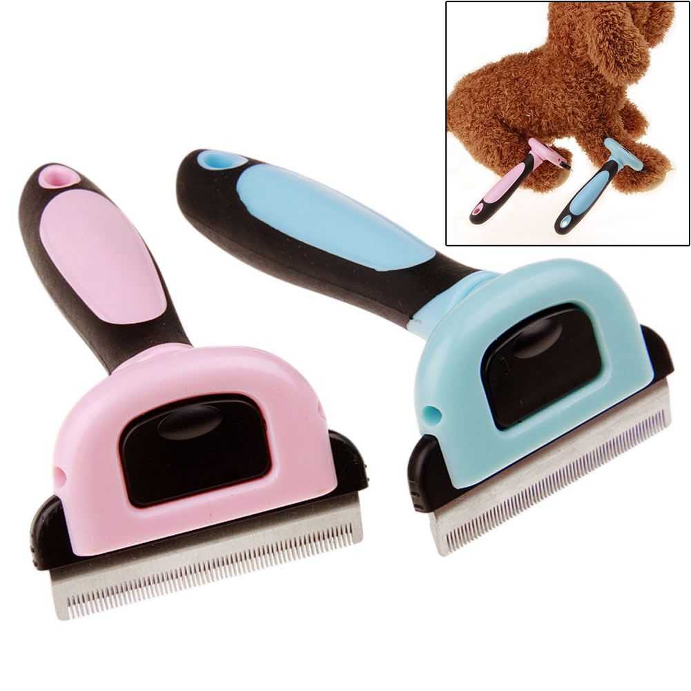 Pet Deshedding Grooming Massage Dematting Brush Comb Hair Fur Removal Tool