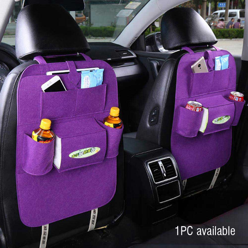 auto car seat back multi pocket storage bag organizer holder hanger accessory ebay. Black Bedroom Furniture Sets. Home Design Ideas