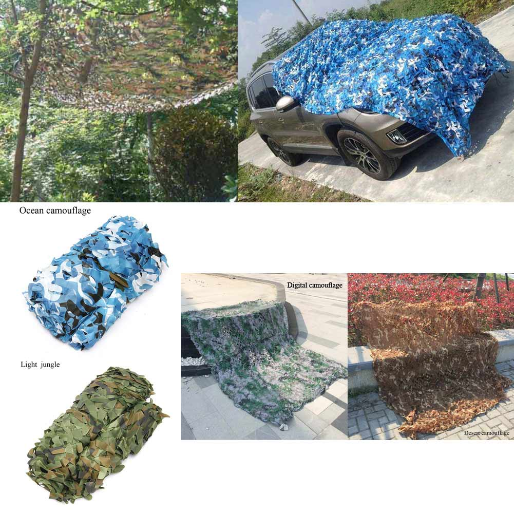 4x2M Hunting Camping Military Camouflage Net Woodland Camo Netting Cover