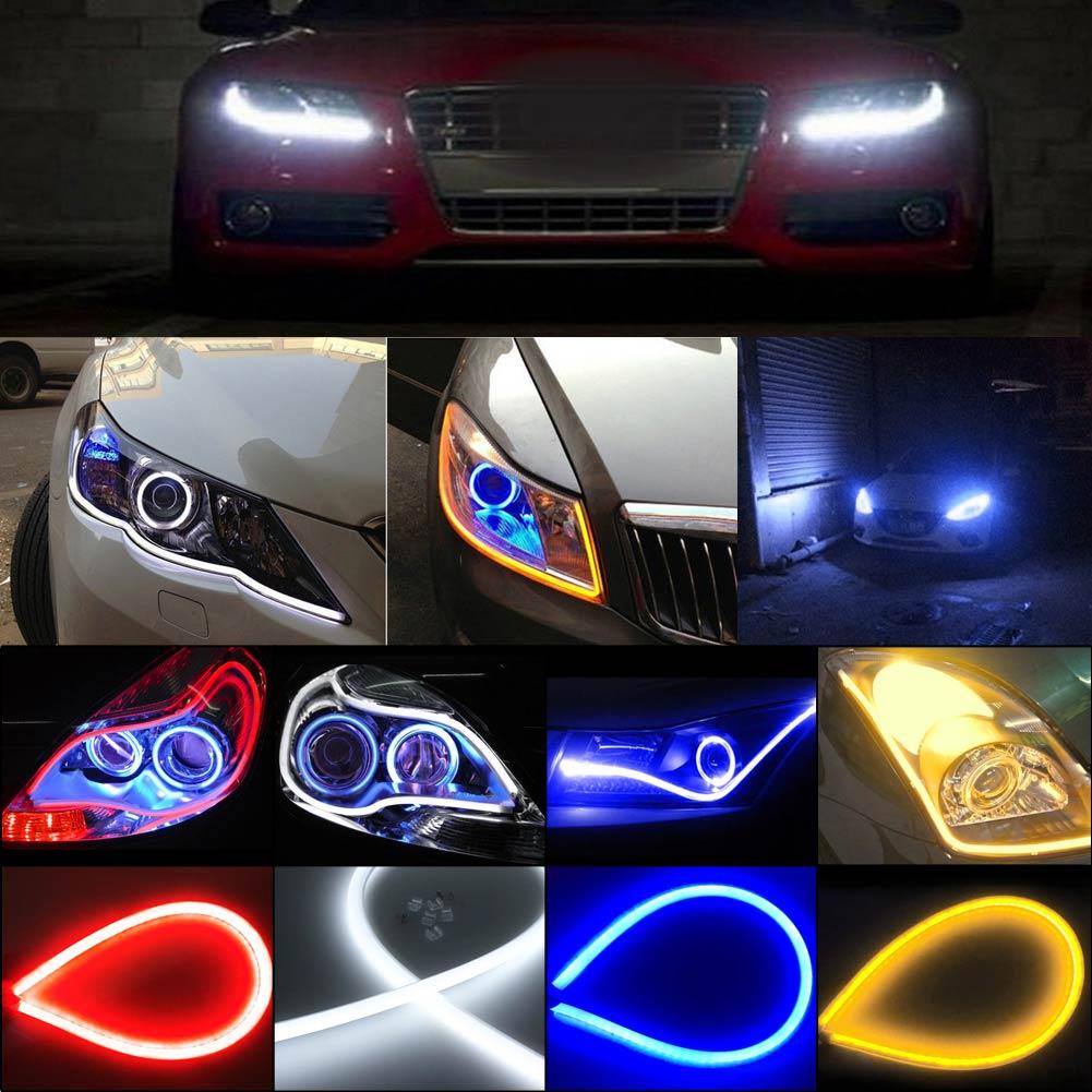 45cmFlexible Car Soft Tube LED StripLight DRLDaytime Running Headlight Lamp
