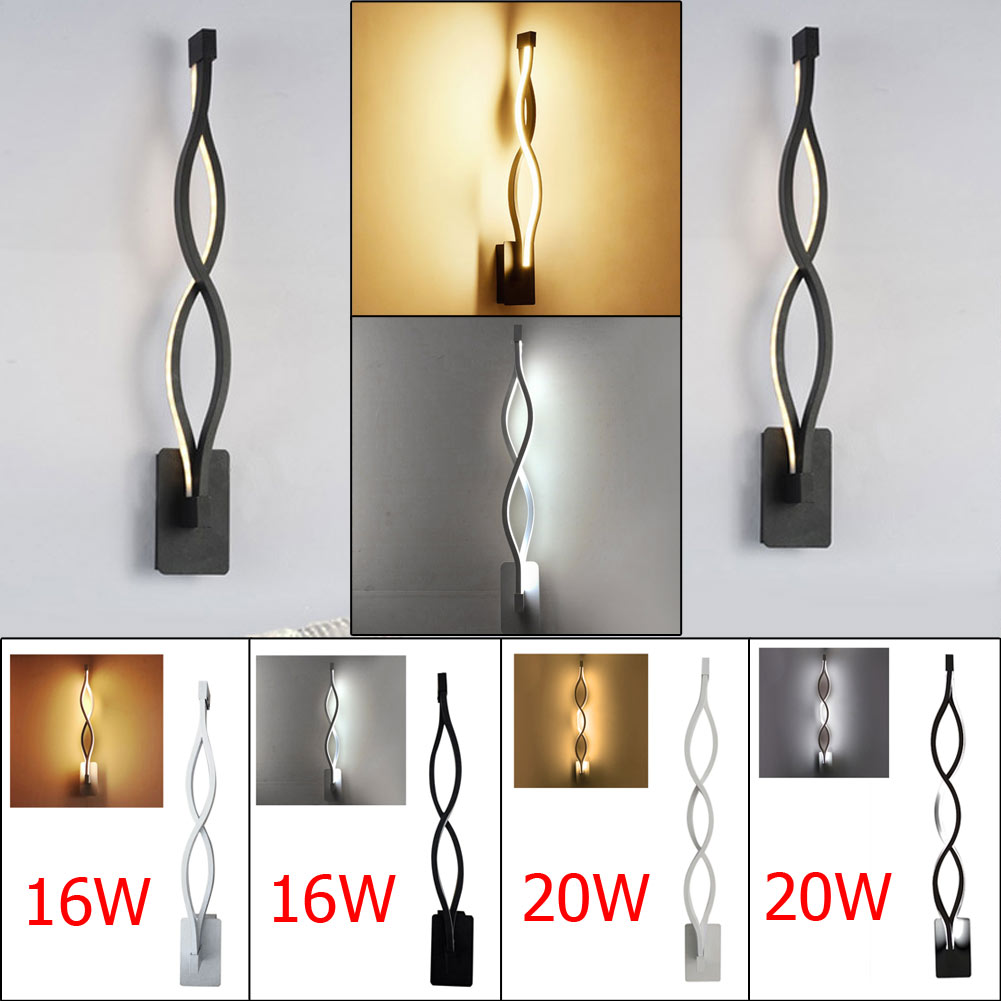 LED Aluminum Fixture Wave Mirror Light Corridor TV Background Wall Lamp