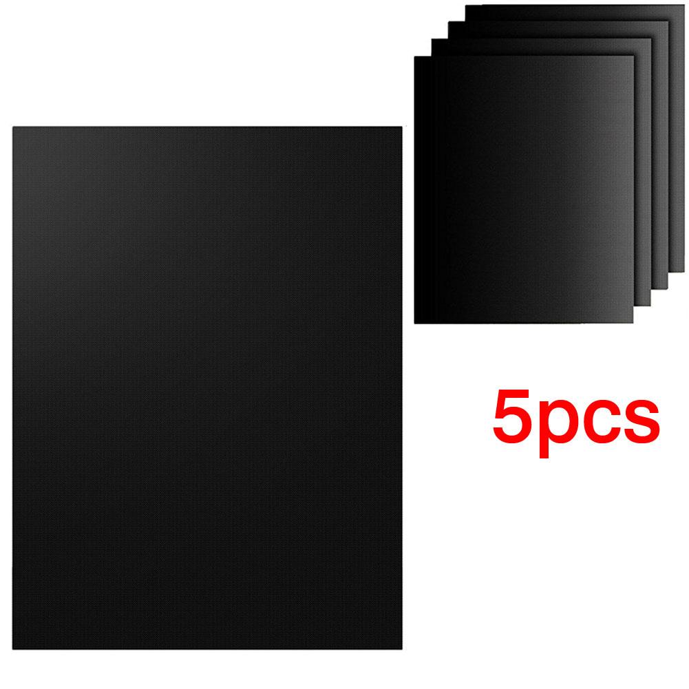 Wholesale 5pc Easy Reusable Non-stick Heat Resistant BBQ Grill Sheet Mat Set