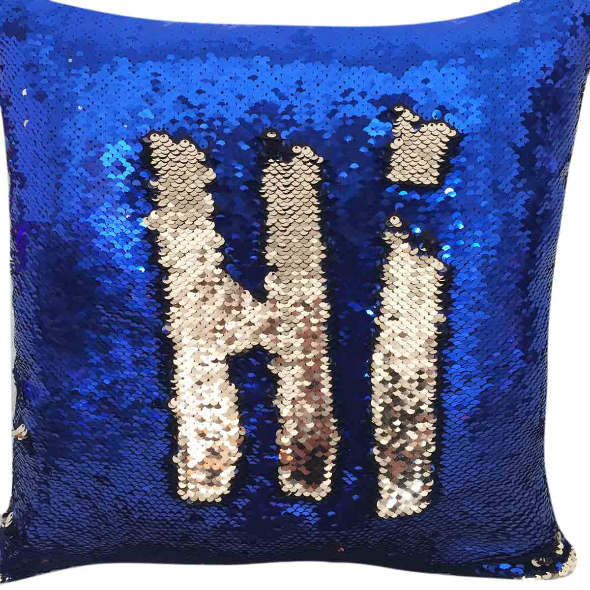 Two Tone Glitter Sequin Throw Cushion Color Changing Sofa Pillow Case Cover