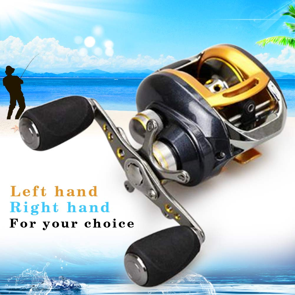 Portable Metal Arm Rocker Left/Right Hand Droplet Fishing Reel Fish Wheel