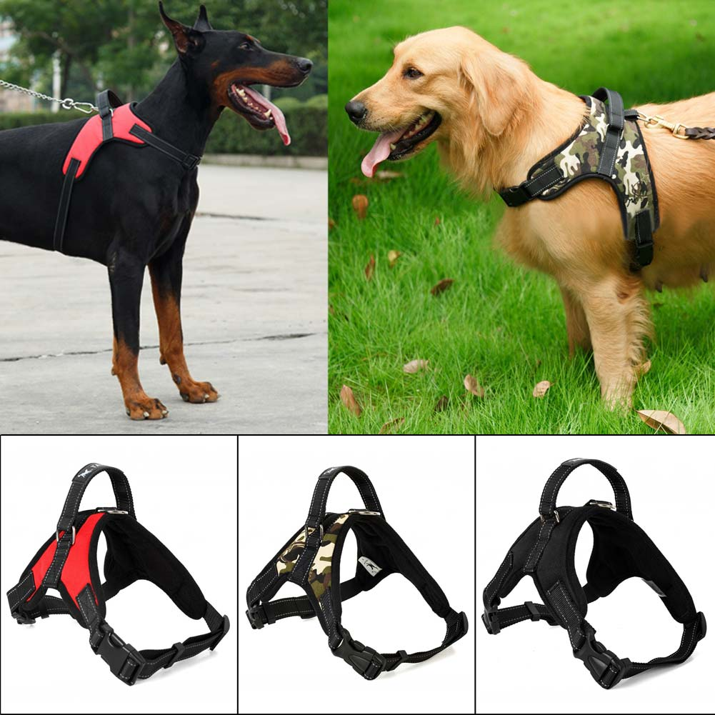 Adjustable Pet Harness Lead LeashVest Easy Control Ropefor Medium Large Dog