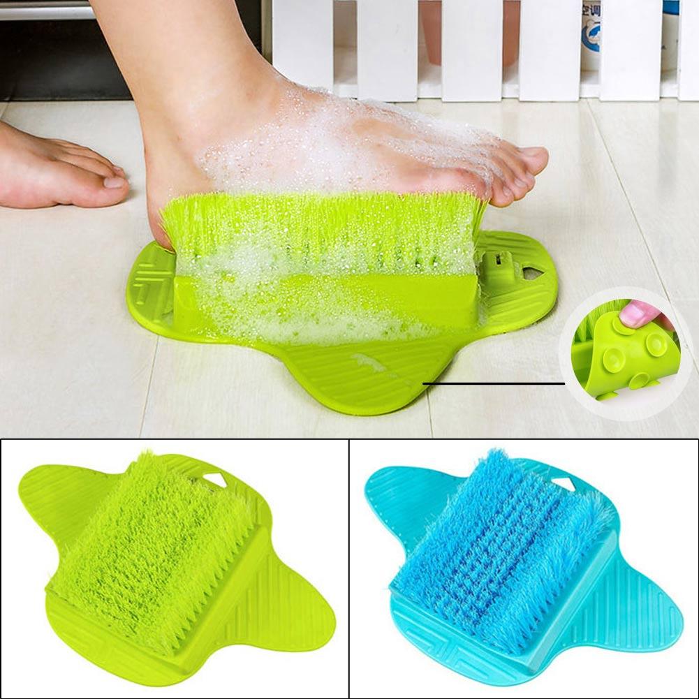 Bath Cleaner Massager Scrubber Exfoliating Spa Washer Foot Brush W/Sucker