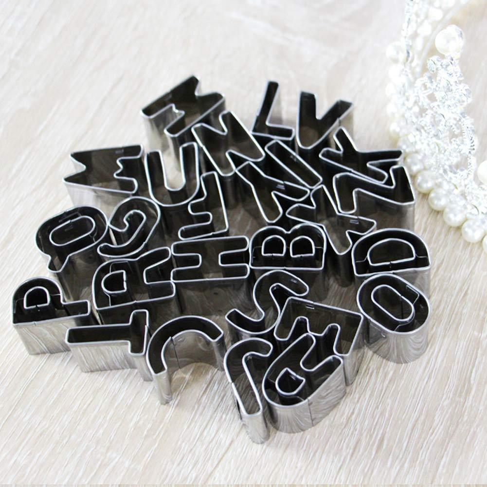 26pc Alphabet Letter Fondant Cake Biscuit Baking ...