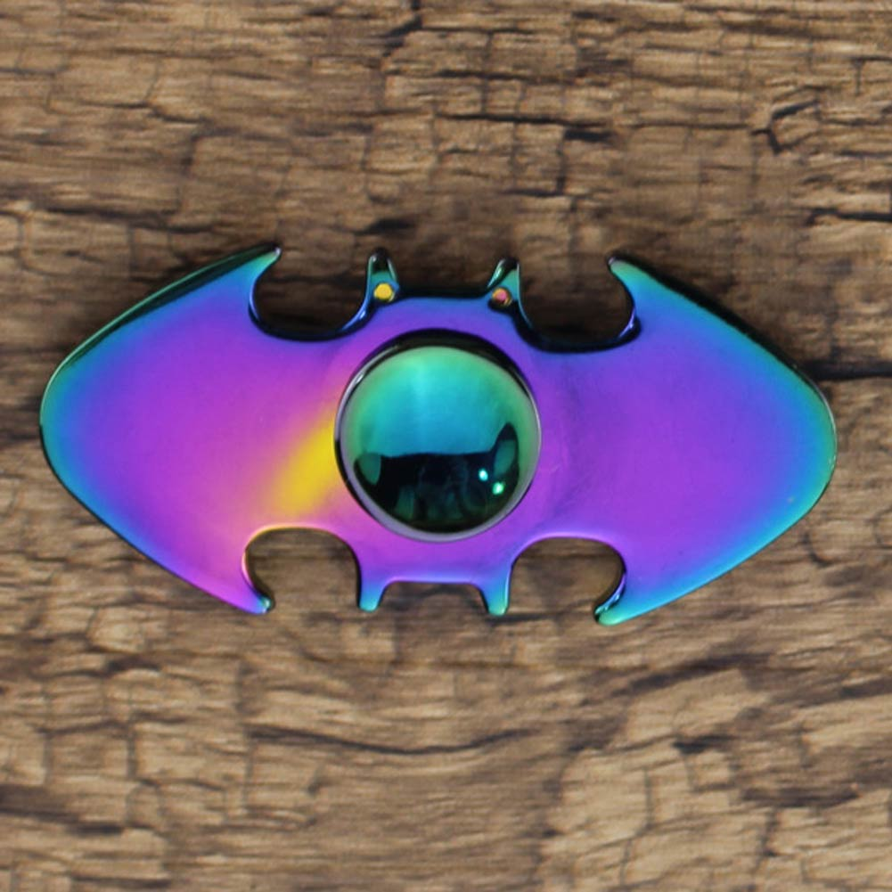 Multicolor Dual Leaf Bat Hand Spinner EDC Focus Toy ADD ADHD Stress Reducer