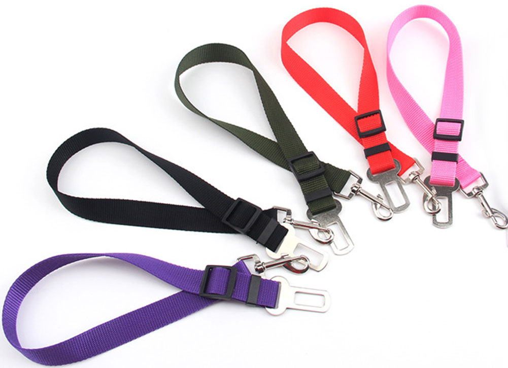Adjustable Pet Dog Puppy Cat Safety Lead Leash Car Seat Belt Harness