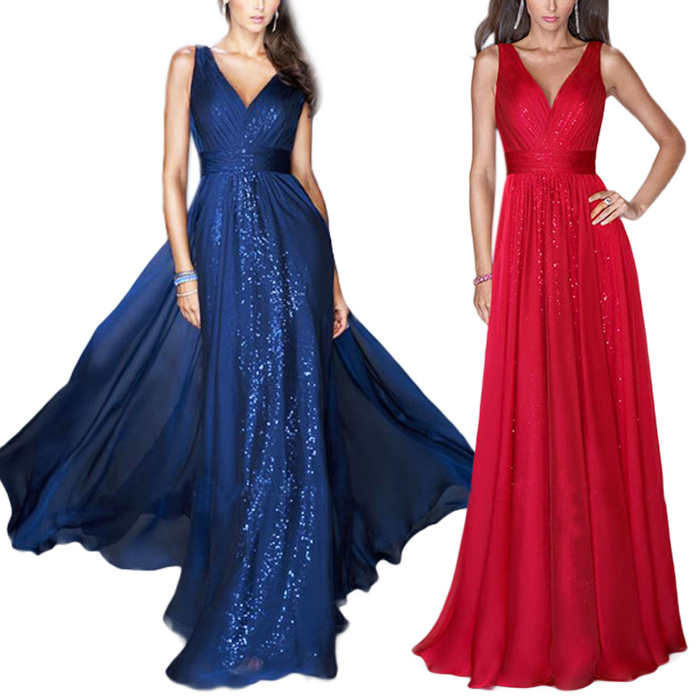 Formal-Wedding-Evening-Cocktail-Party-Sleeveless-Maxi-Dress-Mermaid-Long-Gown
