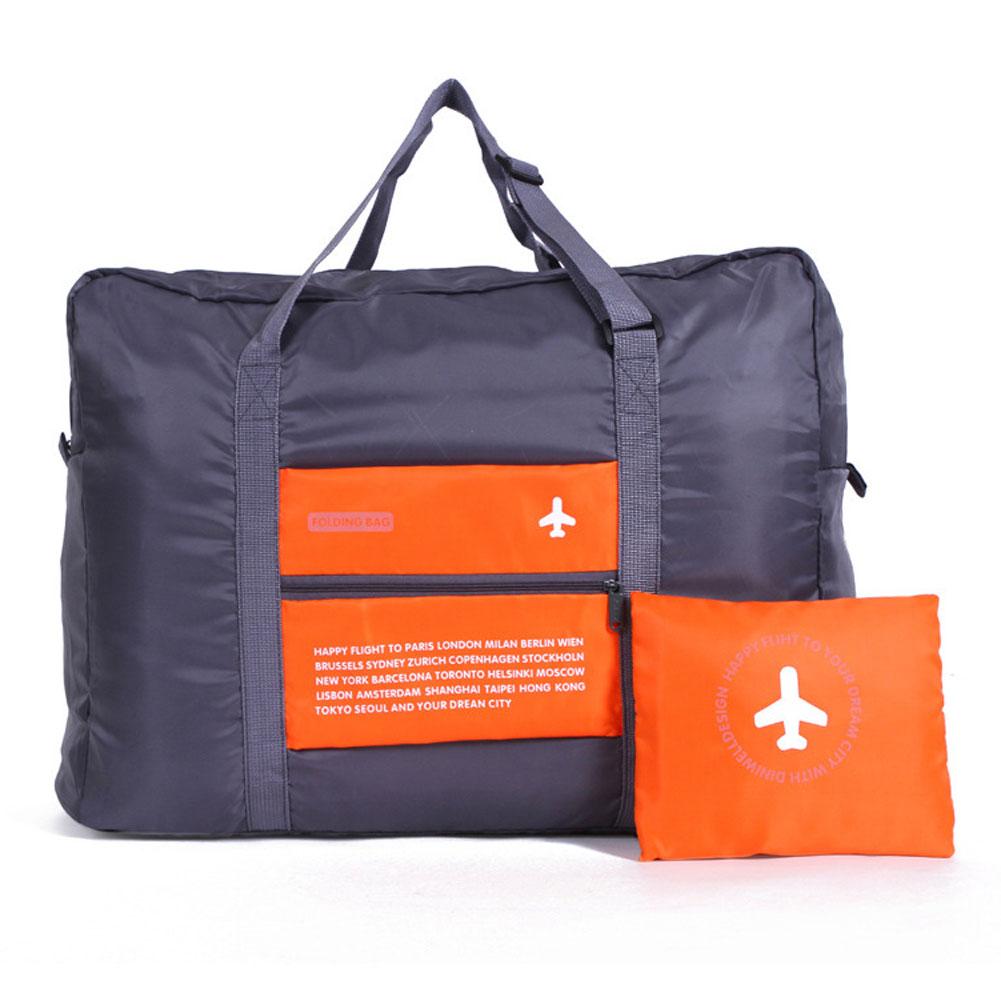 Wholesale Waterproof Portable Foldable Travel Luggage Handbag StorageOrganizer Orange