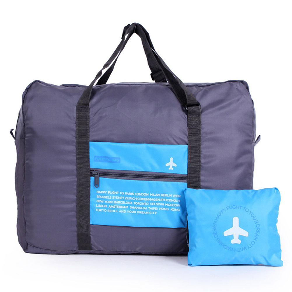 Wholesale Waterproof Portable Foldable Travel Luggage Handbag Storage Organizer Blue