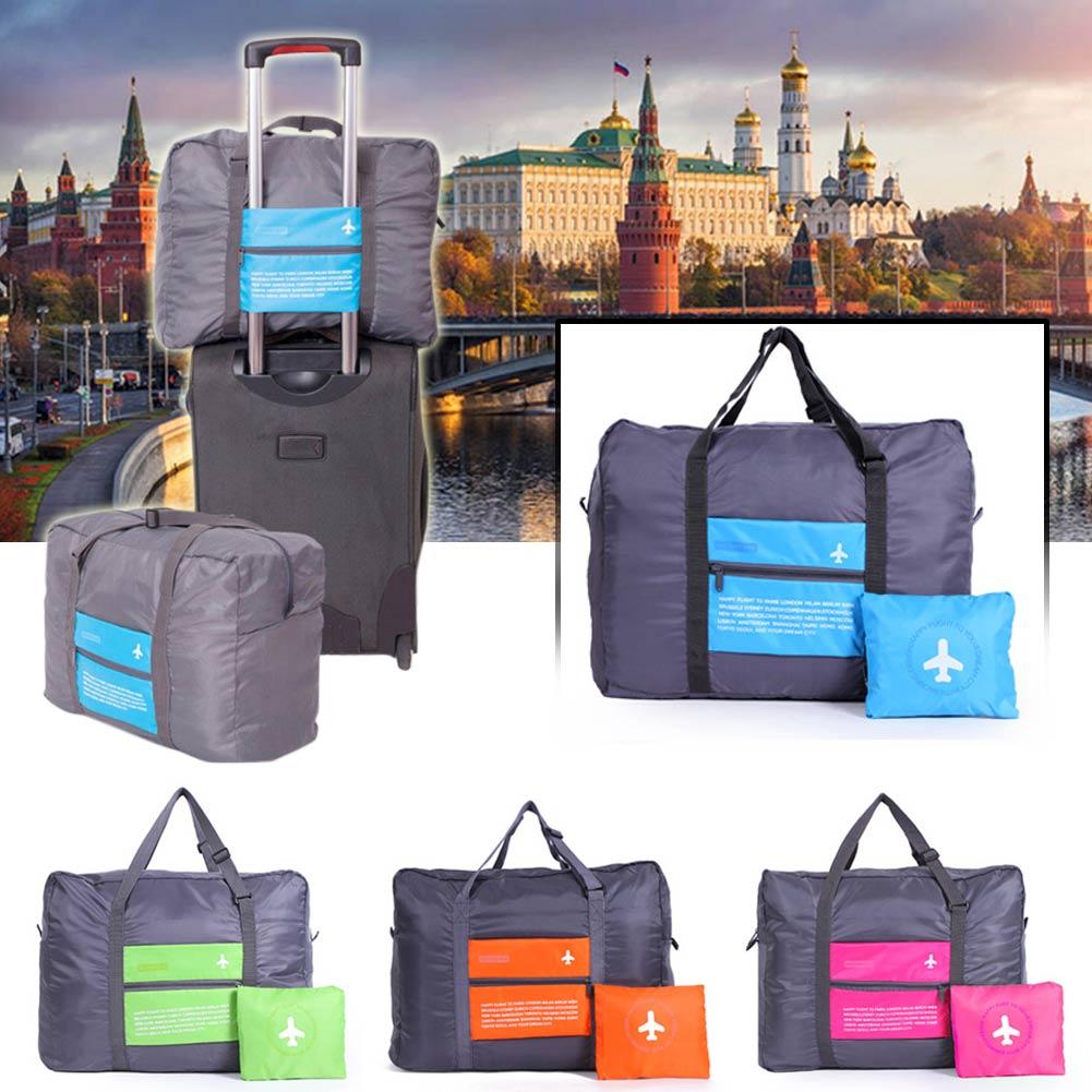 Waterproof Portable Foldable Travel Luggage Handbag Storage Organizer Bag