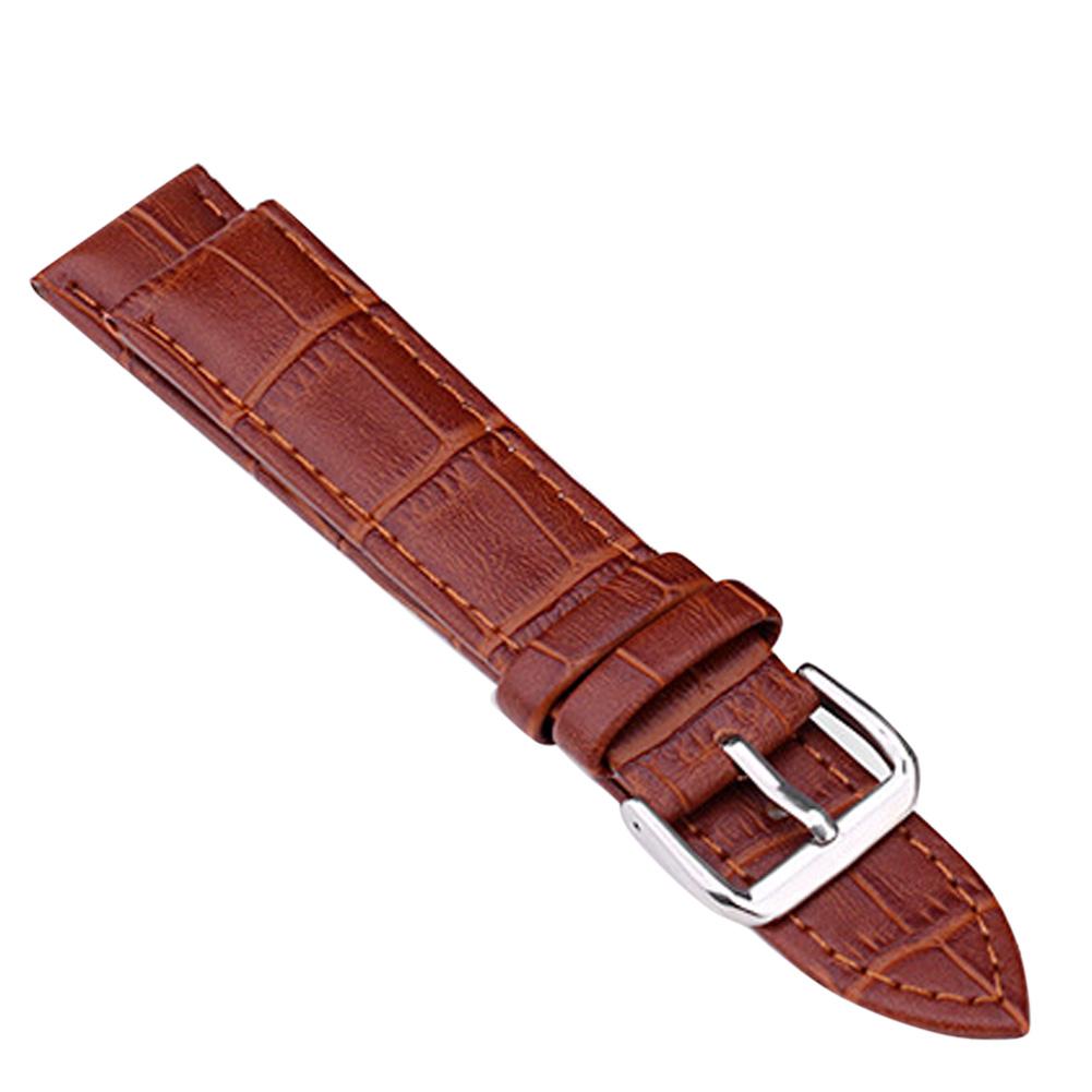 Unisex Soft Genuine Leather Bracelet Watch Wristband Belt Strap Set W/Buckle