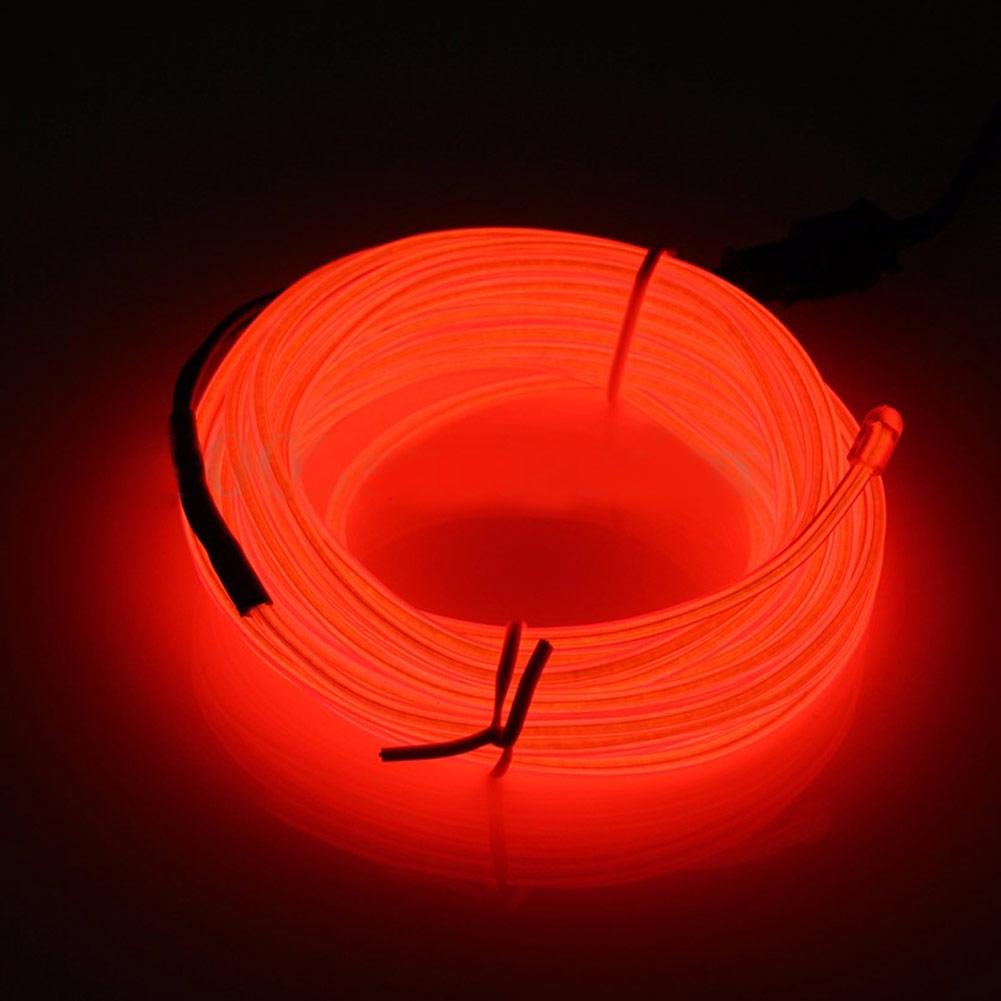 5M EL-Kabel 12V Neon Lichtschnur Leuchtschnur Leuchtdraht Wire ...