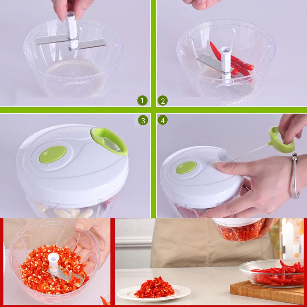 MultifunctionManual MeatVegetable GarlicOnion Chopper CutterGrinder Blender