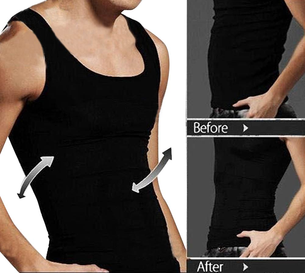 Men Slimming Body Shapewear Vest Shirt Undershirt Abdomen Tummy Belly Slim