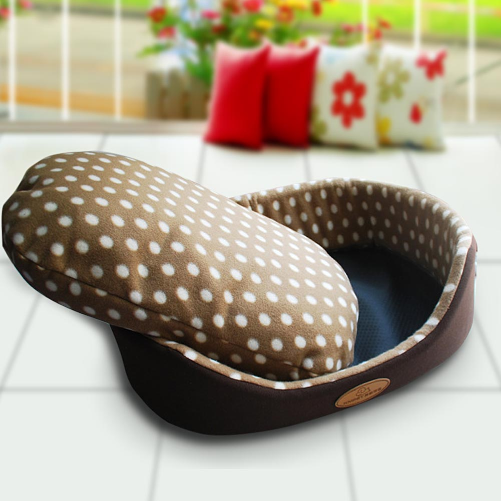Fleece Removable Pet Dog Puppy Cat House Thicken Warm Bed Sofa Mat Nest