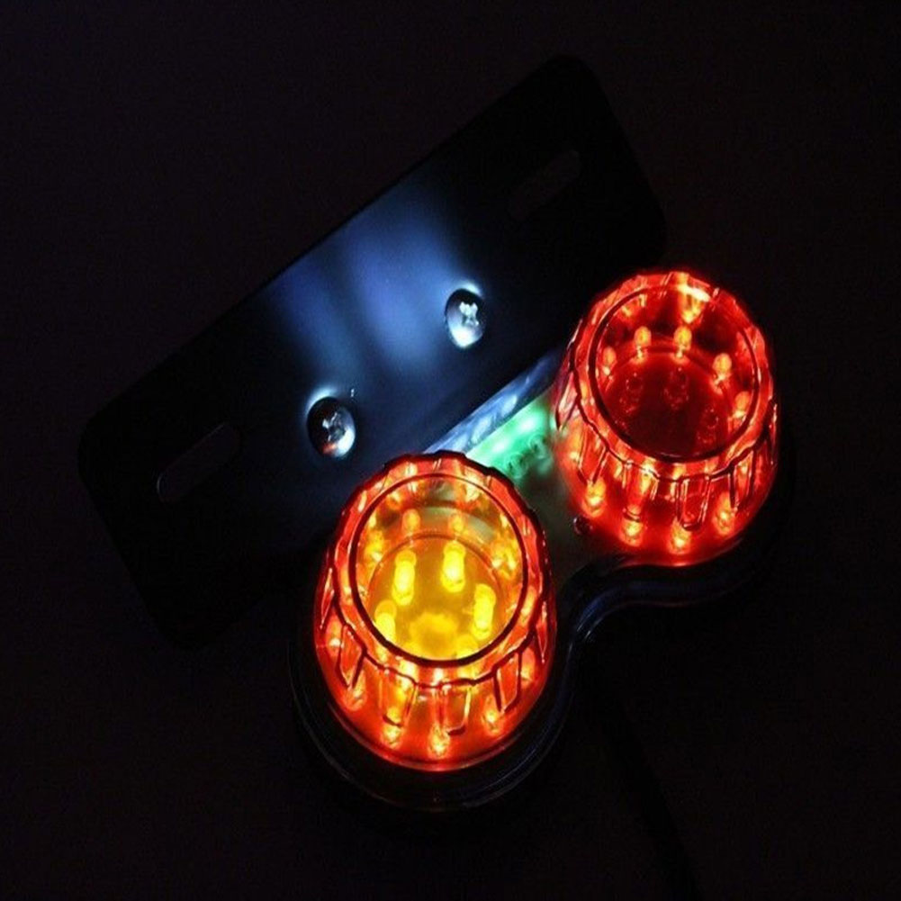 Retro LED Twin Dual Tail Brake Signal Light Lamp for SUV Motorcycle Car