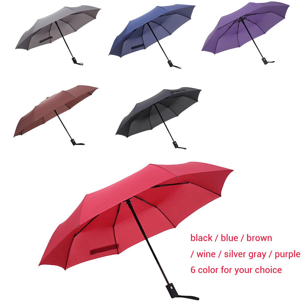 Wholesale Full Auto Open/ Close Compact Windproof 3Folding Travel Business Umbrella