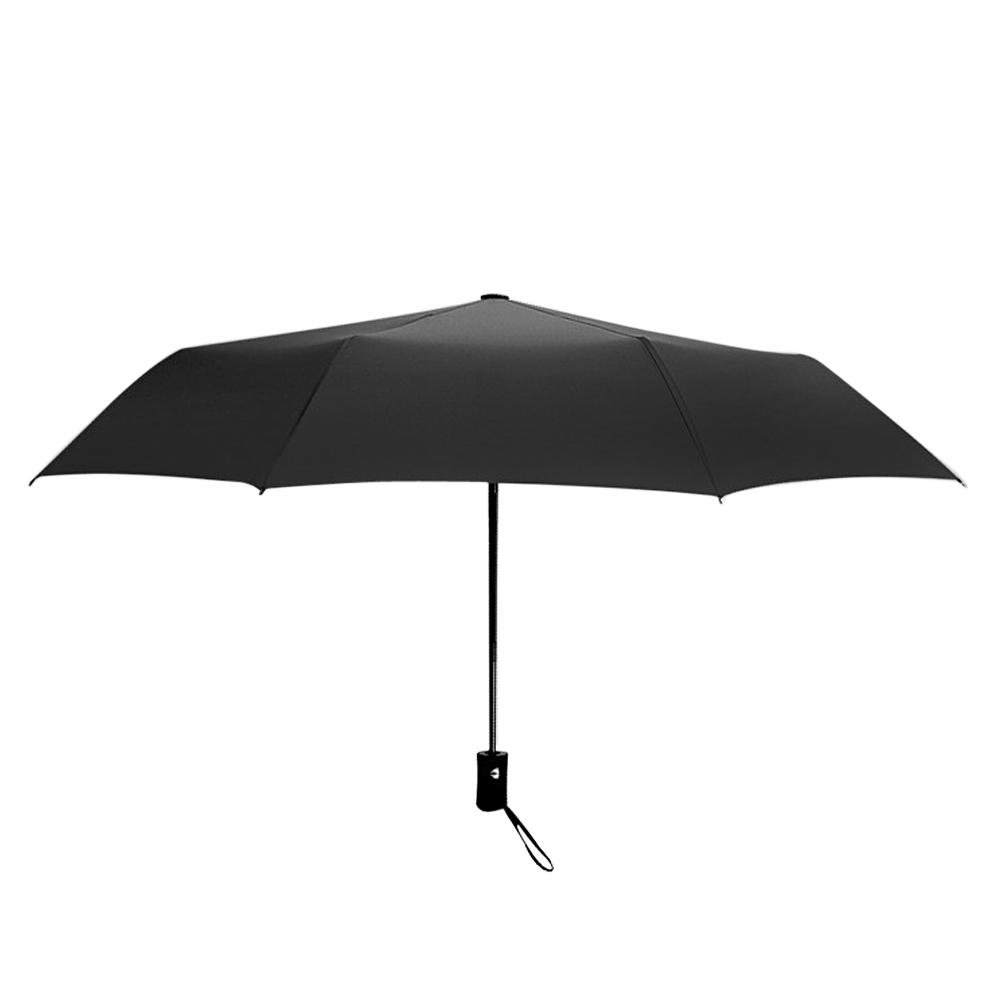 Wholesale Auto Open/Close Compact Windproof 3Folding Travel Business Umbrella Black