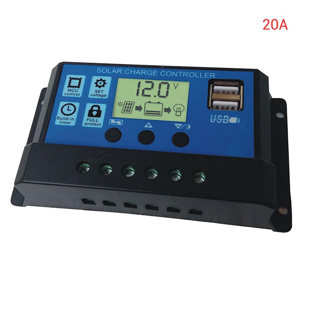 LCD MPPT Solar Panel Battery Regulator Charge Controller 10V//20A 12V//24V BG