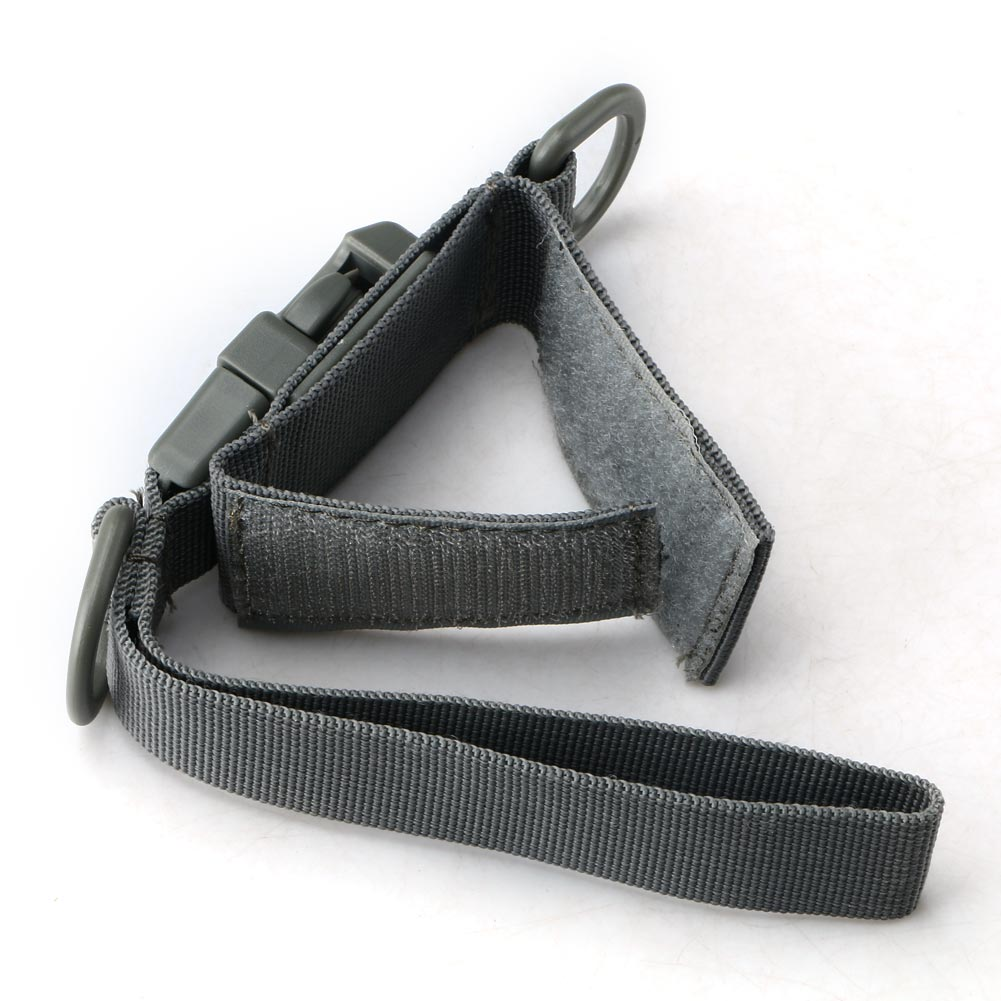 Outdoor Camping Airsoft Backpack Waist BuckleKeychain W/Adhesive Strap Gray