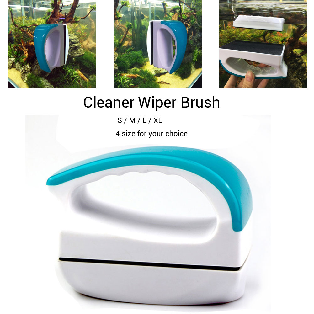 Magnetic Floating Fish Tank Glass Window Double Side Cleaner Wiper Brush M