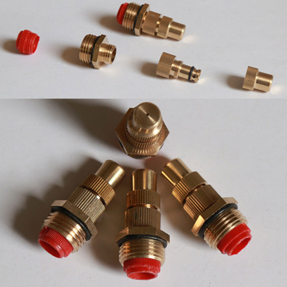 5pc 1/2Inch Brass LowPressure Adjustable MistFog SpraySprinkler Nozzle Head