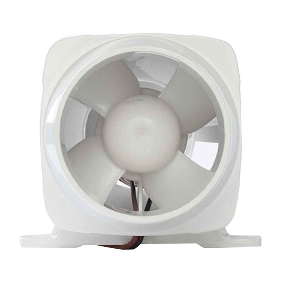 Marine Boat DC12V 3Inch Electric in Line Bilge Air Blower Ventilation Fan White