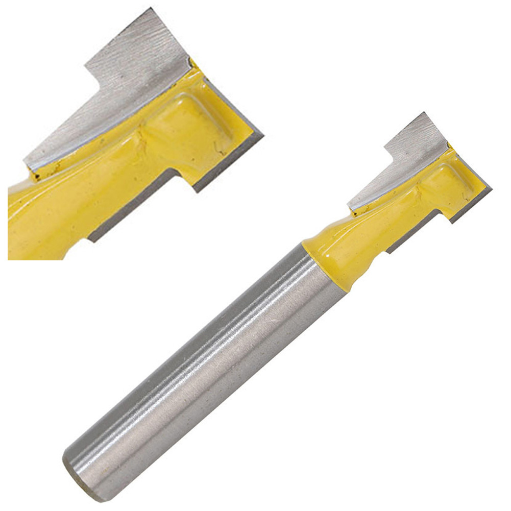 1/4Inch Shank Yellow T-Slot Lock Hole Router Bit Woodwork Cutter Tool